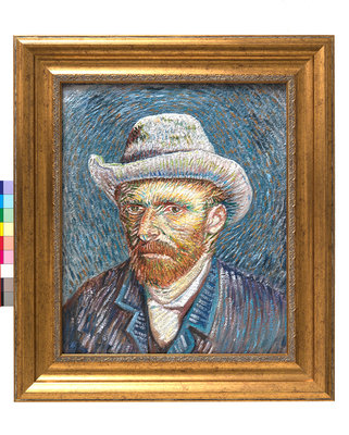 Painted 3D Print Self-Portrait with Felt Hat