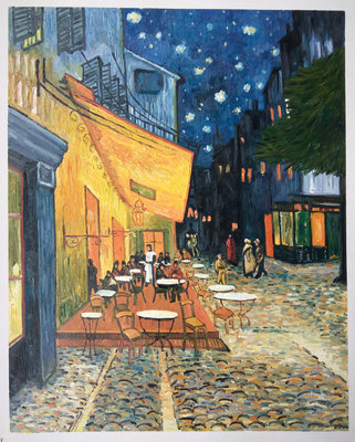 Café Terrace at Night Oil Painting Reproduction, 1888