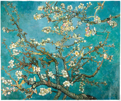 Blossoming Almond Tree Oil Painting Reproduction, 1890