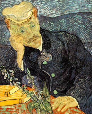 Portrait of Doctor Gachet Van Gogh Reproduction, hand-painted in oil on canvas
