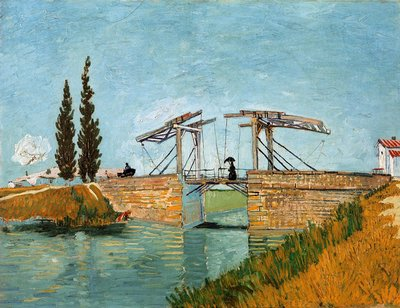 The Langlois Bridge at Arles in Wallraf-Richartz Van Gogh Reproduction, hand-painted in oil on canvas