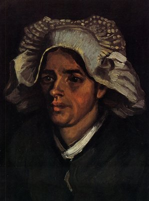 Head of a Peasant Woman with White Cap Van Gogh Reproduction, hand-painted in oil on canvas