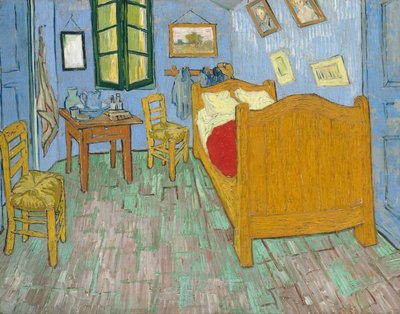 Vincent's bedroom in Arles, Art institute of Chicago, Van Gogh Reproduction, 1889