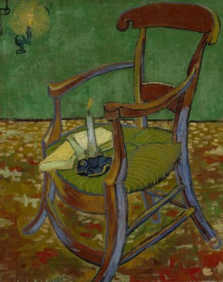 Paul Gauguin's Armchair Van Gogh Reproduction, hand-painted in oil on canvas