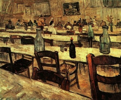 Interior of a Restaurant in Arles Van Gogh Reproduction, 1888