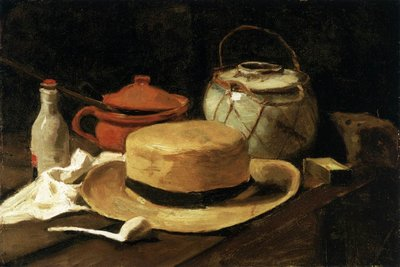 Still Life with Yellow Straw Hat Van Gogh Reproduction, 1881