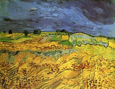The Fields Van Gogh Reproduction, hand-painted in oil on canvas
