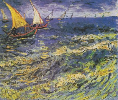 Sea at Saintes-Maries Van Gogh Reproduction, hand-painted in oil on canvas