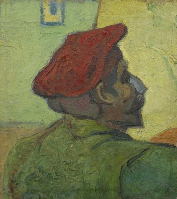 Paul Gauguin (Man in a Red Beret) Van Gogh Reproduction, hand-painted in oil on canvas