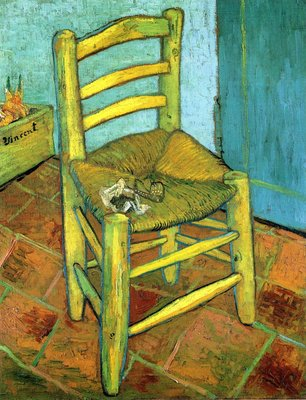 Vincent's Chair with His Pipe Van Gogh Reproduction, hand-painted in oil on canvas