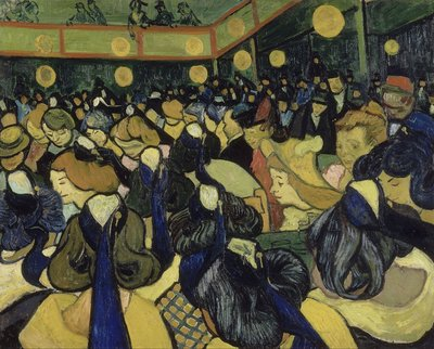 The Dance Hall in Arles Oil Painting Reproduction, 1888