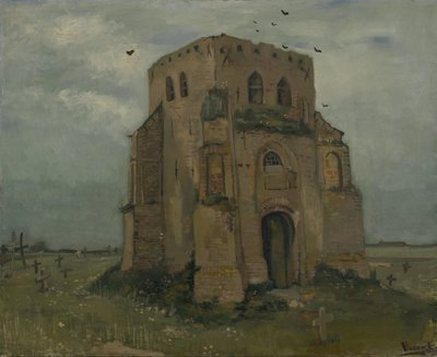 Old Church Tower at Nuenen Van Gogh Reproduction, hand-painted in oil on canvas