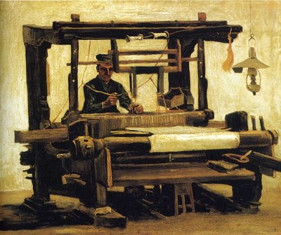 Weaver, Seen from the Front Van Gogh Reproduction, 1884