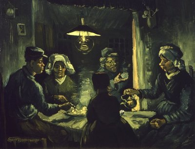Potato Eaters Kroller Muller Van Gogh reproduction, hand-painted in oil on canvas