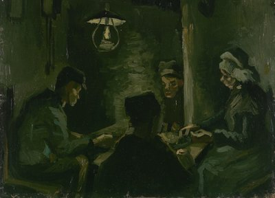 Study for 'The Potato Eaters' Van Gogh Reproduction, hand-painted in oil on canvas