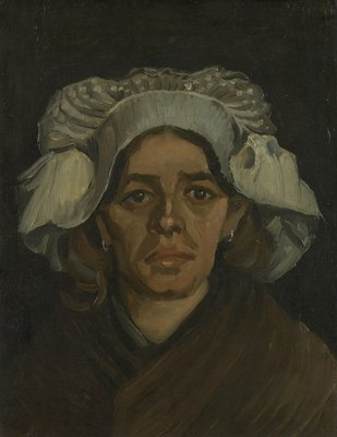Head of a Woman Van Gogh Reproduction, hand-painted in oil on canvas