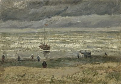 Seascape at Scheveningen Van Gogh Reproduction, hand-painted in oil on canvas