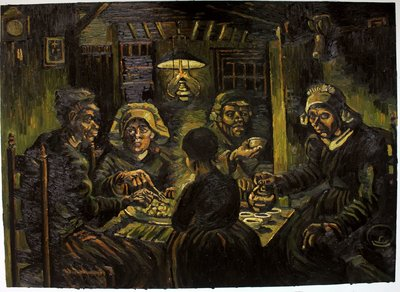 The Potato Eaters Oil Painting Reproduction, 1885