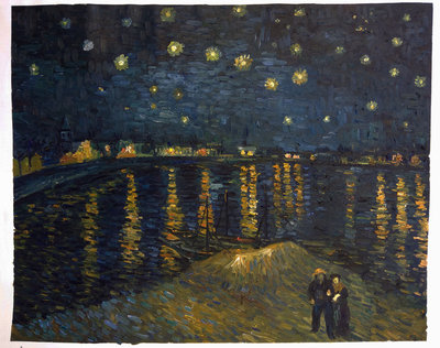 Starry Night over the Rhone Van Gogh Reproduction, 1888