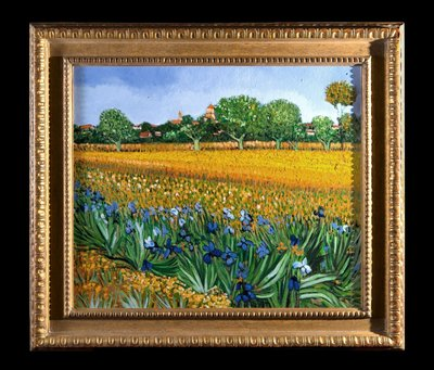Field with Irises near Arles by Geert Jan Jansen, hand-painted in oil on canvas