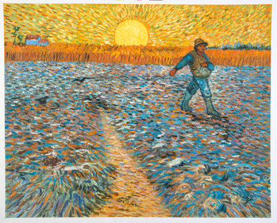 The Sower Van Gogh Reproduction, hand-painted in oil on canvas