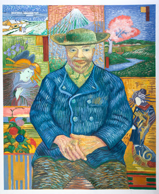 Portrait of Père Tanguy Van Gogh Reproduction, hand-painted in oil on canvas