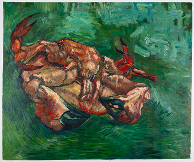 Crab on Its Back Van Gogh Reproduction, hand-painted in oil on canvas