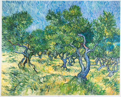 Olive Grove Van Gogh Reproduction, hand-painted in oil on canvas