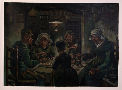 The Potato Eaters Van Gogh Reproduction, hand-painted in oil on canvas