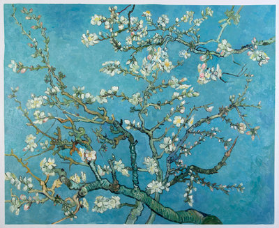 Blossoming Almond Tree Reproduction, hand-painted in oil on canvas