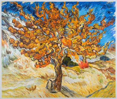The Mulberry Tree Van Gogh Reproduction, hand-painted in oil on canvas