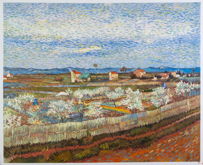 La Crau with Peach Trees in Blossom Van Gogh Reproduction, hand-painted in oil on canvas