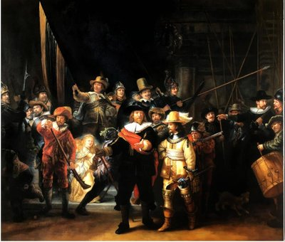 The Night Watch Rembrandt reproduction, hand-painted in oil on canvas
