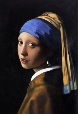 Girl with a Pearl Earring Vermeer reproduction, hand-painted in oil on canvas