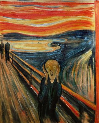 The Scream Munch reproduction, hand-painted in oil on canvas