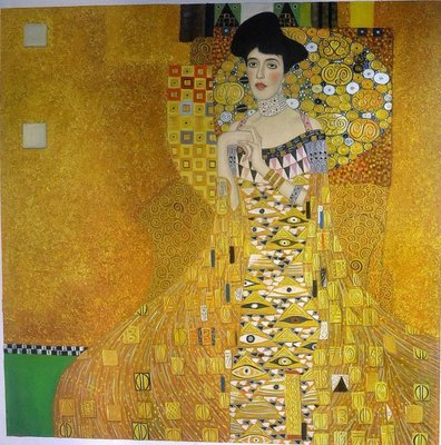 Portrait of Adele Bloch Bauer Klimt reproduction, hand-painted in oil on canvas