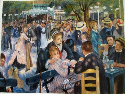 Dance at the Moulin de la Galette Renoir reproduction, hand-painted in oil on canvas