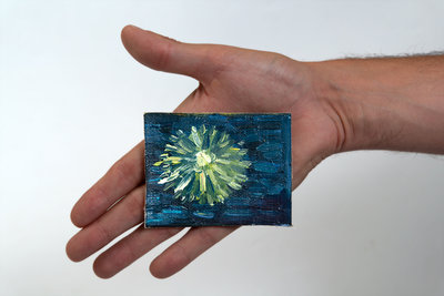 Starry Night over the Rhone mini painting, hand-painted in oil on canvas