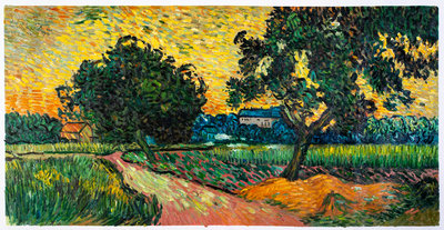 Landscape at Twilight Van Gogh Reproduction, hand-painted in oil on canvas
