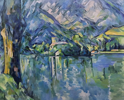 Lac d'Annecy Cezanne reproduction, hand-painted in oil on canvas