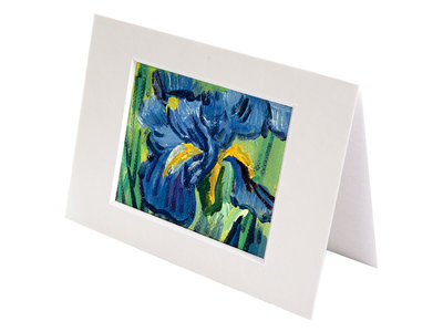 Irises mini painting, hand-painted in oil on canvas