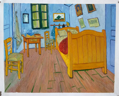 Vincent's Bedroom in Arles Van Gogh Reproduction, hand-painted in oil on canvas