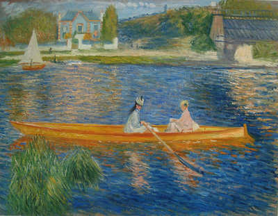 The Skiff Renoir reproduction, hand-painted in oil on canvas