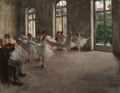 Ballet Rehearsal Degas reproduction, hand-painted in oil on canvas