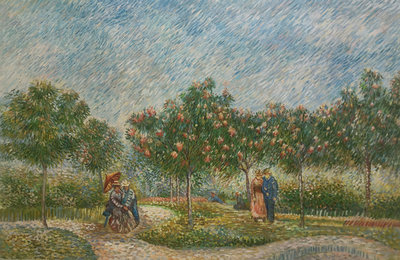 Garden with Courting Couples Van Gogh reproduction, hand-painted in oil on canvas