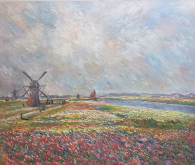 Tulip Fields near The Hague Monet reproduction, hand-painted in oil on canvas