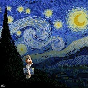 Starry Night Poster by Alireza Karimi Moghaddam