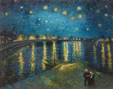 Starry Night over the Rhone Van Gogh reproduction
