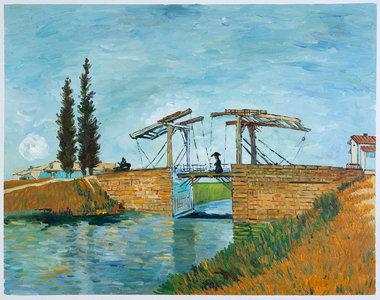 The Langlois Bridge at Arles Wallraf-Richartz Van Gogh Reproduction