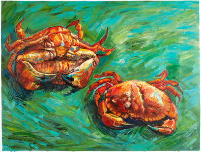 Two Crabs Van Gogh reproduction